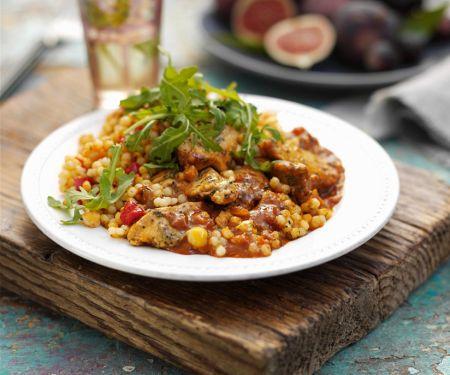 Marokkanische Hähnchenpfanne mit Couscous