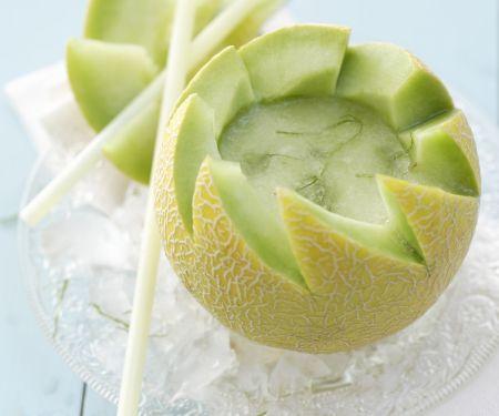 Melonen-Daiquiri in der Galia-Melone