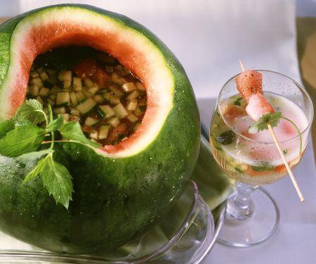 Melonenbowle mit Gurke