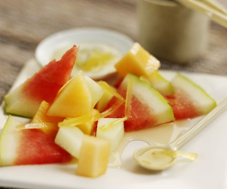 Melonensalat mit Ingwer