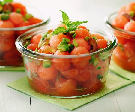 Melonensalat mit Pistazien