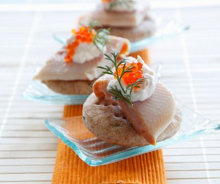 Mini-Fischpizzen