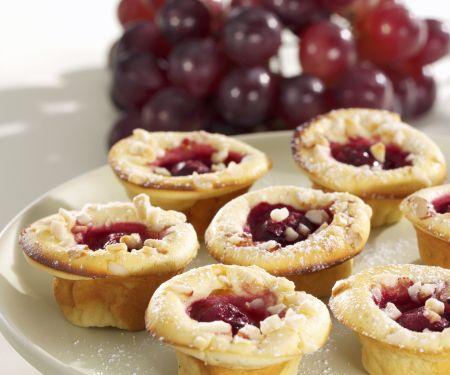 Mini-Muffins mit Trauben