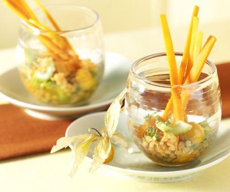 Möhren-Linsen-Salat mit Physalis