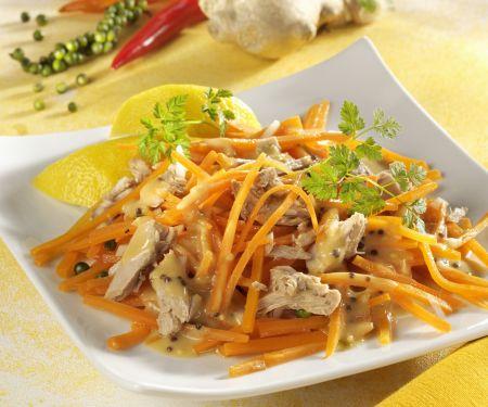 Möhrensalat mit Thunfisch