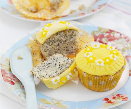 Mohn-Cupcakes