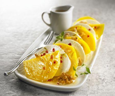 Mozzarella-Mango-Caprese mit Nüssen und Limette