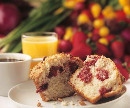 Muffins mit Erdbeeren