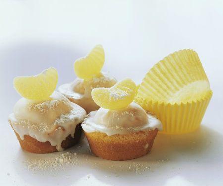 Muffins mit Zitronenglasur
