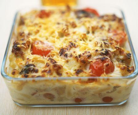 Nudel-Fenchel-Gratin mit Tomaten