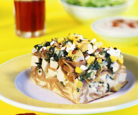 Nudelauflauf mit Tofu und Gemüse
