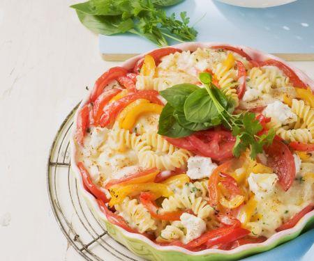 Nudelauflauf mit Tomaten