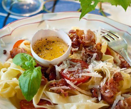 Nudeln mit Pancetta