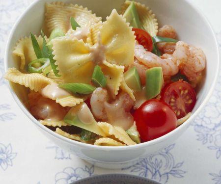Nudelsalat mit Shrimps