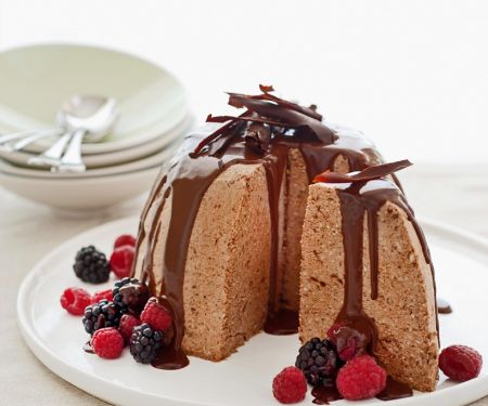 Nusseis mit Schokolade
