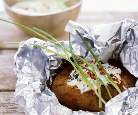 Ofenkartoffel mit Kräutercreme