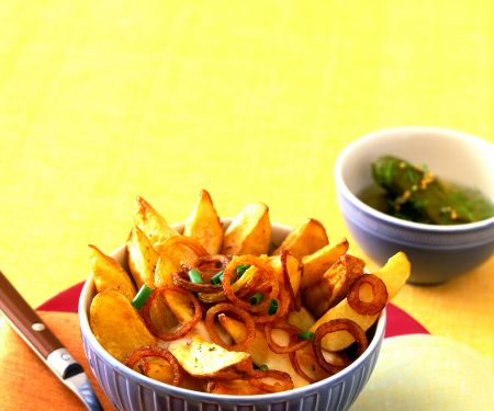 Ofenkartoffeln mit Paprika-Röstzwiebeln