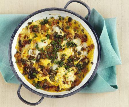 Omelett mit Kürbiskernen- und Öl