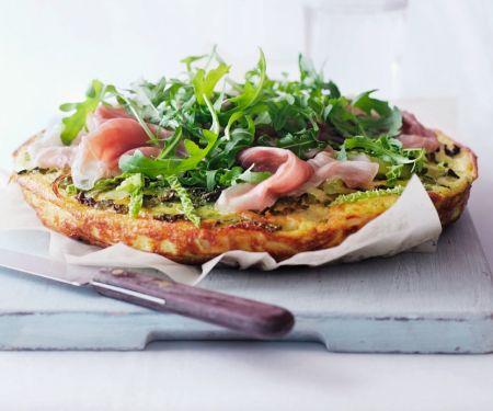 Omelette mit Gemüse und Schinken