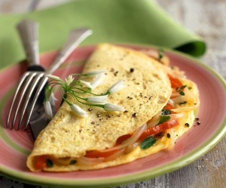 Omelette mit Paprikafüllung
