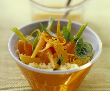 Orangen-Couscous mit Möhren