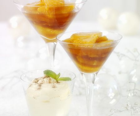 Orangen mit Karamellsauce