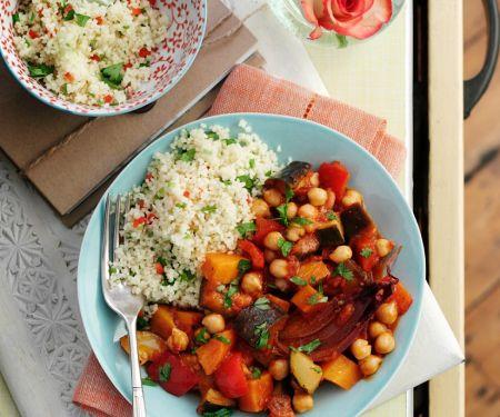 Orientalische Gemüsepfanne mit Couscous