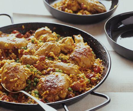 Paella mit Hähnchen
