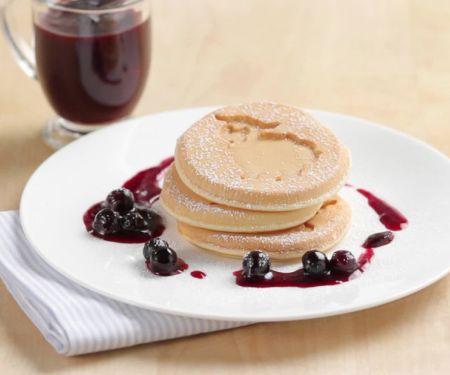 Pancakes mit Blueberries