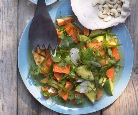 Papayasalat mit Limetten-Vinaigrette
