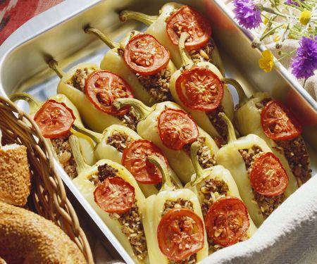 Paprika mit Hachfleischfüllung