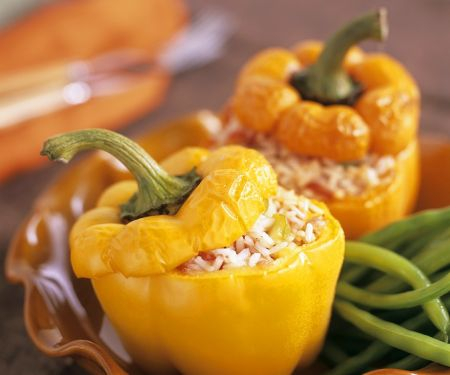 Paprika mit Reisfüllung