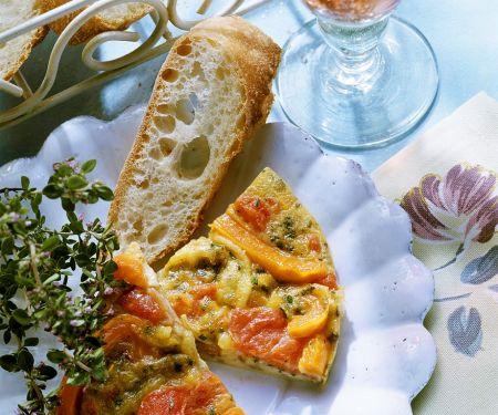 Paprika-Tomatenomelett