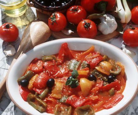 Paprikagemüse auf italienische Art
