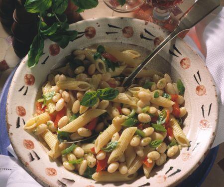 Pasta mit Bohnen und Paprika