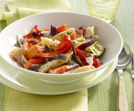 Pasta mit mediterranem Gemüse