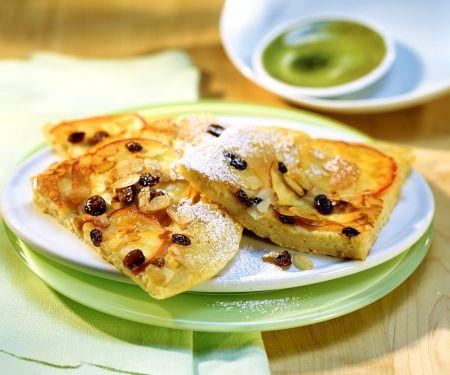 Pfannkuchen mit Äpfeln