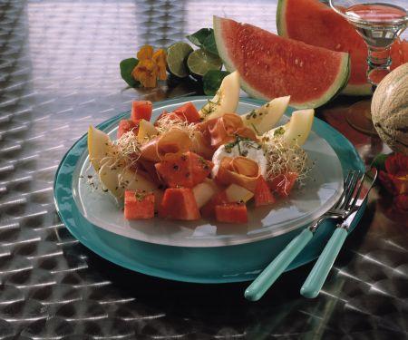 Pfeffer-Melone mit Ziegenkäse