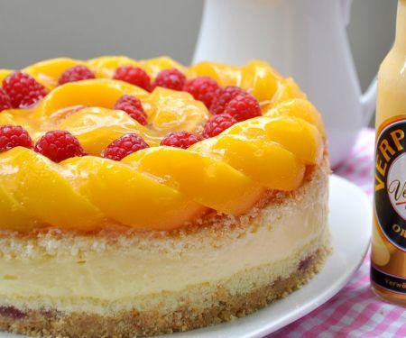 Pfirsich-Himbeer-Eierlikör Verpoorten-Torte
