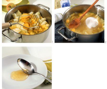 Pfirsich-Melonenkonfitüre