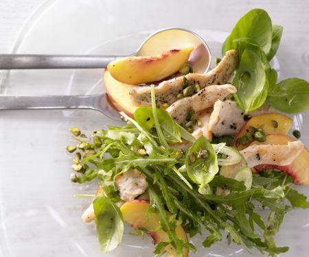 Pfirsich-Rucola-Salat