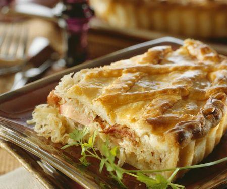Pie mit Kassler und Sauerkraut