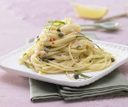Pikante Kapern-Spaghetti