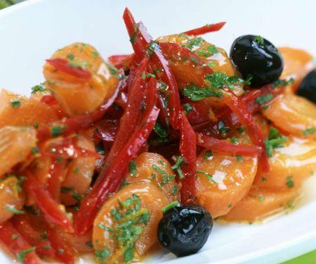 Pikante Möhren mit Paprika