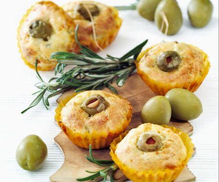 Pikante Muffins mit Käse
