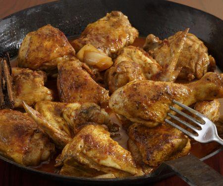 Pikantes Sherry-Hähnchen auf marokkanische Art