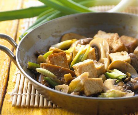 Pilz-Pfanne mit Tofu