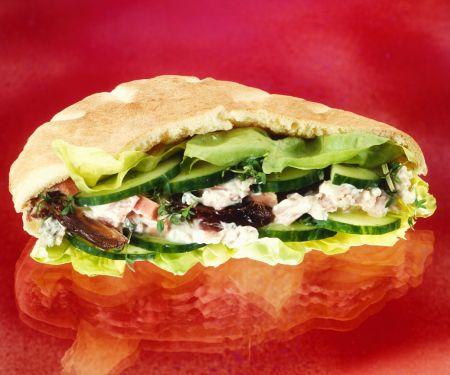 Pitabrot mit Salatfüllung
