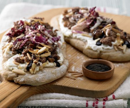 Pizza mit Lammhack