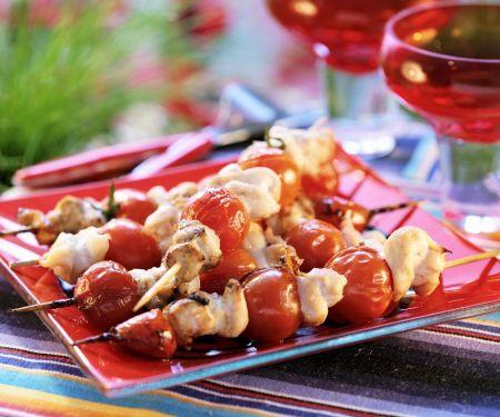 Puten-Tomaten-Spieße vom Grill